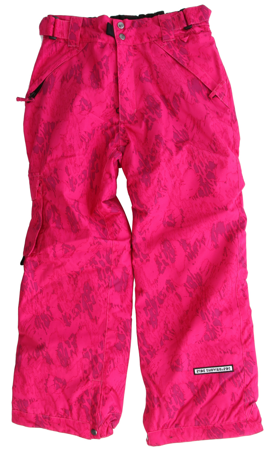 "Snowboard The Ride Dart youth snowboard pant is built tough with a 5k/5k waterproof breathable rating, critically taped seams and an 80g Poly Insulation so your up-and-comer stays warm and dry, up until last chair!Key Features of the Ride Dart Snowboard Pants: 5,000mm Waterproof 5,000g Breathability 80g Poly Insulation with Taffeta Lining Side Pocket and Back Pockets Growth Seams at the Pant Hem That Extend out 1 1/2"" in Length Adjustable, Double-Snap Elastic Waist Closure Velvety Tricot Inner Waist, Rear and Fly Shred-Free Slightly Higher Pant Leg Back Boot Gaiters Lift Ticket Self-Fabric Loop Kids' snowboard pant with front Micro-Fleece Lined Toaster Pockets - $70.95"