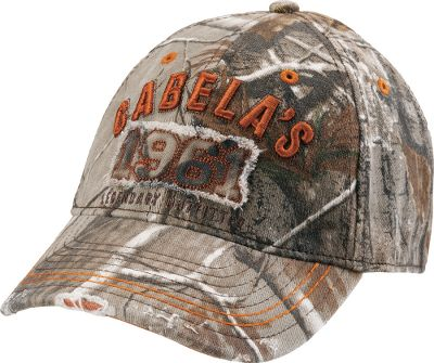 Hunting Pre-curved, frayed bill. Distressed 1961 patch. Fitted style. Raised Cabelas logo. 97/3 cotton/spandex blend. Imported. Sizes: M/L, L/XL. Camo patterns: Realtree XTRA. Size: MEDIUM/LARGE. Color: Realtree Xtra. Gender: Male. Age Group: Adult. Material: Cotton. Type: Caps. - $10.88