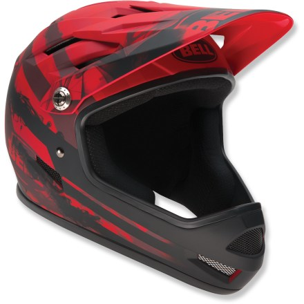 BMX Designed for BMX, Super-D and all-mountain use, the Bell Sanction full-face bike helmet offers lightweight, well-vented performance with full coverage. - $75.00