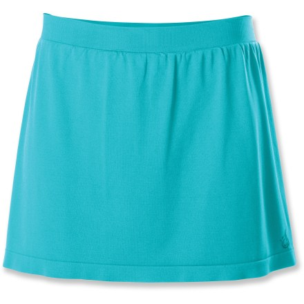 Fitness The comfortable Isis Skyline skort has built-in shorts for great coverage so you can run and jump all you want during workouts and still have a touch of feminine style. Lightweight, high-performance polyester/nylon knit fabric is soft and smooth against skin; shorts have a touch of stretchy spandex for great range of motion. Fabric has excellent wicking properties, and it dries fast so you'll stay comfortable on long runs. Seamless construction won't cause chafing. Built-in shorts have a 5 in. inseam. Isis Skyline skort has a fold-over pocket inside that's perfect for a key or ID. Closeout. - $18.73