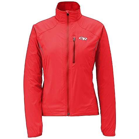 Free Shipping. Outdoor Research Women's Redline Jacket DECENT FEATURES of the Outdoor Research Women's Redline Jacket Water Resistant Wind Resistant Breathable Lightweight Single-Separating Front Zipper with Locking Slider Zippered Napoleon Pocket Chest Pocket Doubles as Stuff Sack Reflective Material on Front and Back Elastic Cuffs on Underside of Wrist Contoured Cuff Extends to Protect Hand Drawcord Hem The SPECS Weight: (M): 4.1 oz / 115 g Fit: Trim Center Back Length: 26in. / 66 cm 100% nylon ripstop fabric with Air Permeability of 1.4CFM This product can only be shipped within the United States. Please don't hate us. - $84.95