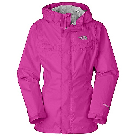 Fitness Free Shipping. The North Face Girls' Clairy Jacket DECENT FEATURES of The North Face Girls' Clairy Jacket Waterproof, breathable, fully seam sealed Fixed hood Inset elasticized belt Two welt chest pockets Zippered hand pockets Velcro adjustable cuffs ID label Embroidered logo at left chest and back right shoulder The SPECS Average Weight: 9.17 oz / 260 g Center Back Length: 22.5in. 40D 77 g/m2 HyVent 2.5L-100% nylon ripstop This product can only be shipped within the United States. Please don't hate us. - $74.95