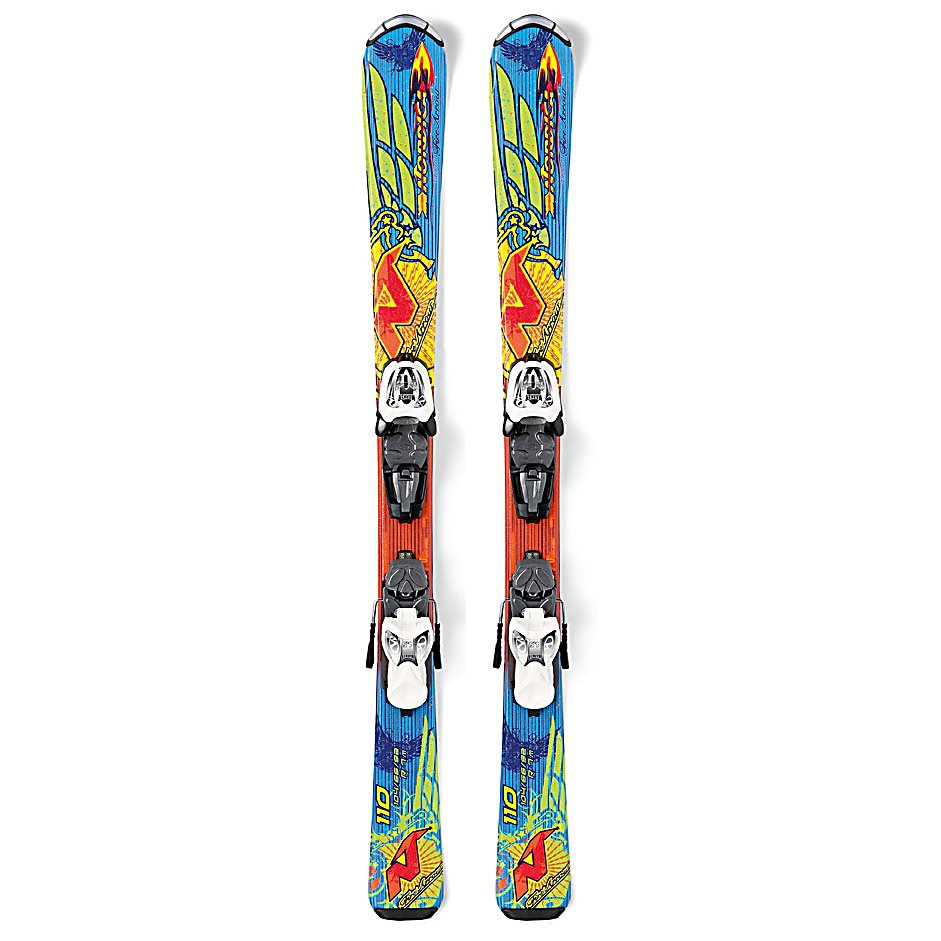 Ski Nordica FireArrow Team Kids Skis with M4.5 Fastrak Bindings - The Nordica FireArrow Team Skis is a great first ski to introduce your child to the fun sport of skiing. These skis are designed to help them progress so that they can soon take on all the challenges that the mountain throws their way. The Energy Ca construction is lightweight to give them more control in the air and a mellow forgiving flex all throughout the mountain. The Full Cam helps with turn initiation as well as stability when they start speeding up. They will have plenty of rebound and edge grip which makes their progression more smooth. Investing in the Nordica FireArrow Team Skis will help your child be a great skier so that you and your child will spend a lifetime of good times on the mountain. . Warranty: One Year, Skill Range: Intermediate - Advanced Intermediate, Model Year: 2013, Product ID: 309676, Model Number: 0A211600 001 080, Ski Gear Intended Use: All Mountain, Waist Width: 66mm, Turn Radius: - $149.90
