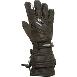 Snowboard Swix Sovereign Leather Mens Gloves - The Swix Sovereign Leather Mens Ski Gloves completes your winter outer wear look in style and the warmth factor is overwhelming. You'll feel the extreme luxury when you slide your fingers into the Swix Men's Sovereign Leather Glove. Built with a waterproof breathable Gore-Tex membrane and an ultra-smooth leather shell, the Sovereign dials in a classic look that can stand up to cold days and season after season of aggressive wear and tear. The Gore-Tex waterproof breathable membrane is guaranteed to keep you dry in brutal storms while allowing evaporating sweat and excess heat to pass through with all unexpected weather conditions. The Swix IV Zone Insulation System helps keep the heat trapped in so you can have warm fingers from start to finish. The Swix Sovereign Leather Ski Gloves brings you lots of warmth and comfort while also maintaining its luxurious style. . Warranty: Other, Glove Quality: Better, Glove Weather Condition: Average, Glove/Mitten Insulation: Synthetic, Product ID: 310370, Model Number: H1161-10000-S, GTIN: 7045951597769, Touch Screen Capable: No, Down Filled: No, Cuff Style: Under the cuff, Breathable: Yes, Waterproof: Yes, Glove Outer Fabric: Leather, Wristguards: Yes, Use: Ski/Snowboard, Type: Glove, Race: No, Battery Heated: No, Gortex: Yes, Material: Leather, Removable Liner: No - $69.91