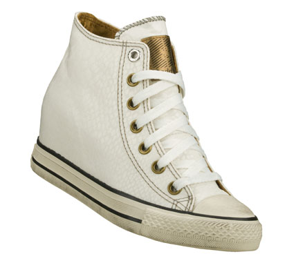 Entertainment Get rich in style quick with the Daddy'$ Money: Gimme - Mucho Dinero shoe.  Soft woven fabric upper with shiny snake print in a lace up casual hidden wedge high top sneaker with stitching and overlay accents. - $55.00