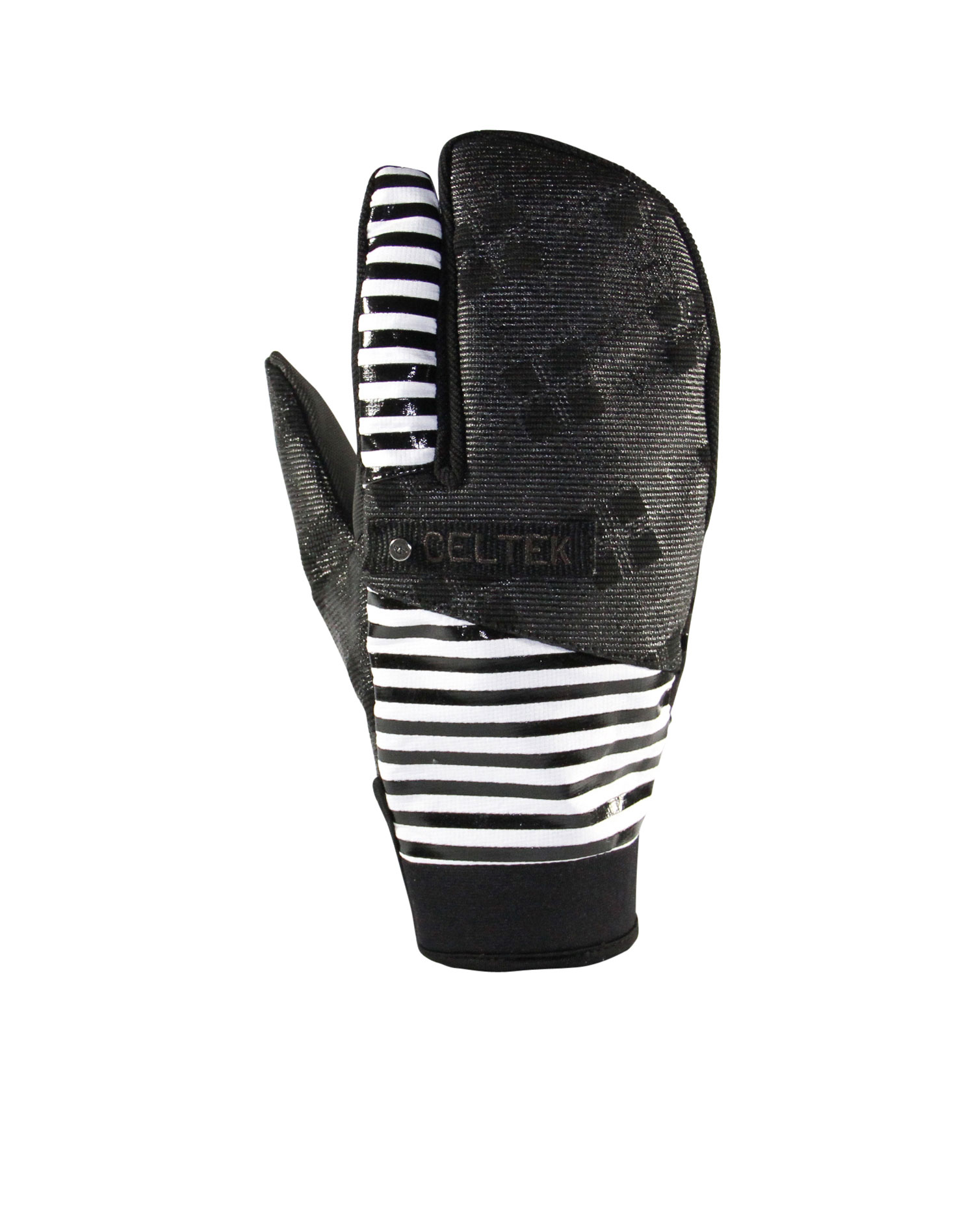 Snowboard Key Features of the Celtek Trippin Pipe Gloves: Water-Resistant Stretch Corded Nylon Microsuede w/ Silicone Art Palm Neoprene Comfort Cuff Artist Series Dave Doman Artwork - $39.99