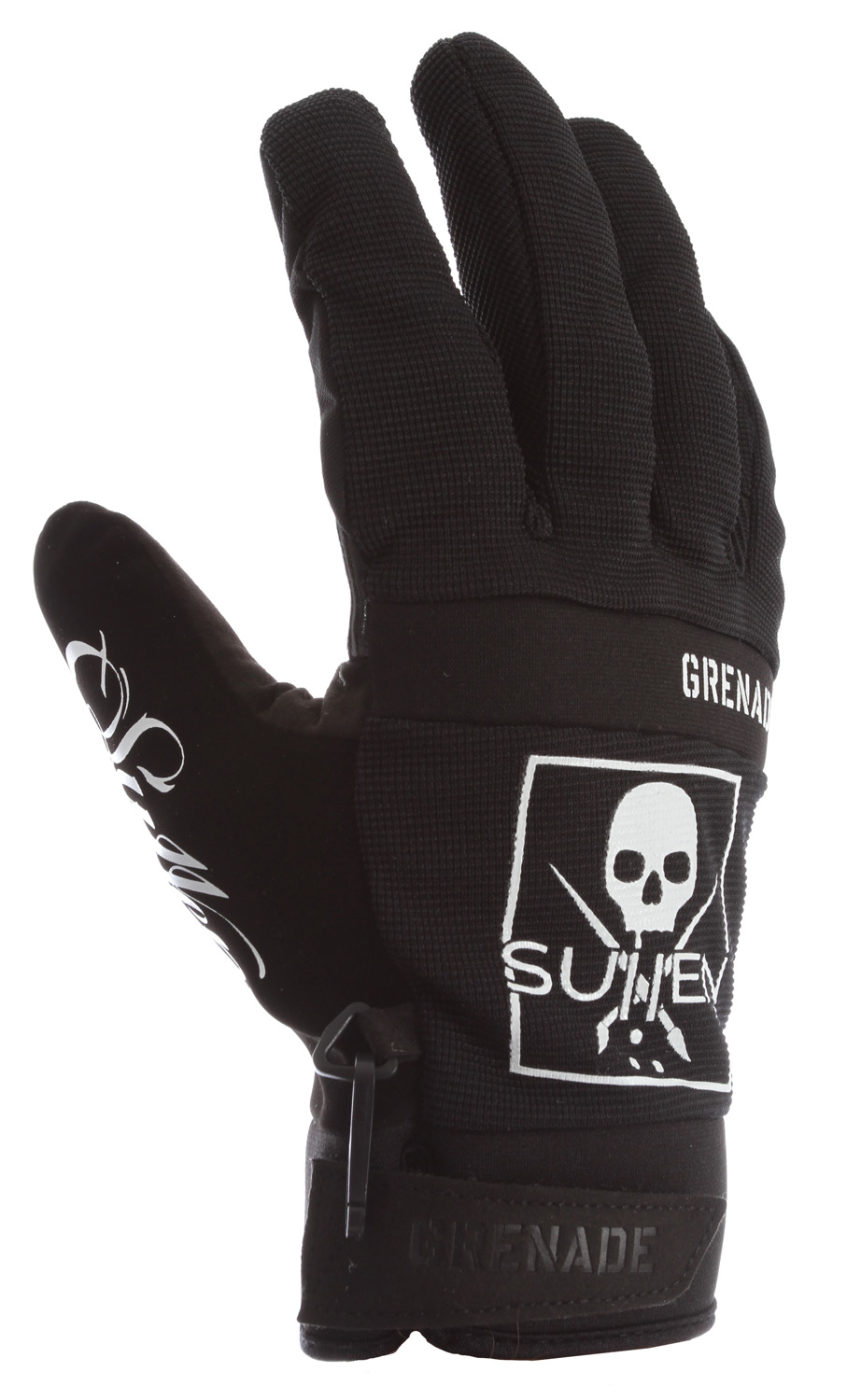 Snowboard Key Features of the Grenade G.A.S. Sullen Gloves : Latter stretch body Performance neoprene knuckle Silicone printed palm graphics Hipora breathable, waterproof insert Screen printed graphics Extended cuff pipe glove Wicking treatment Primaloft - $36.95