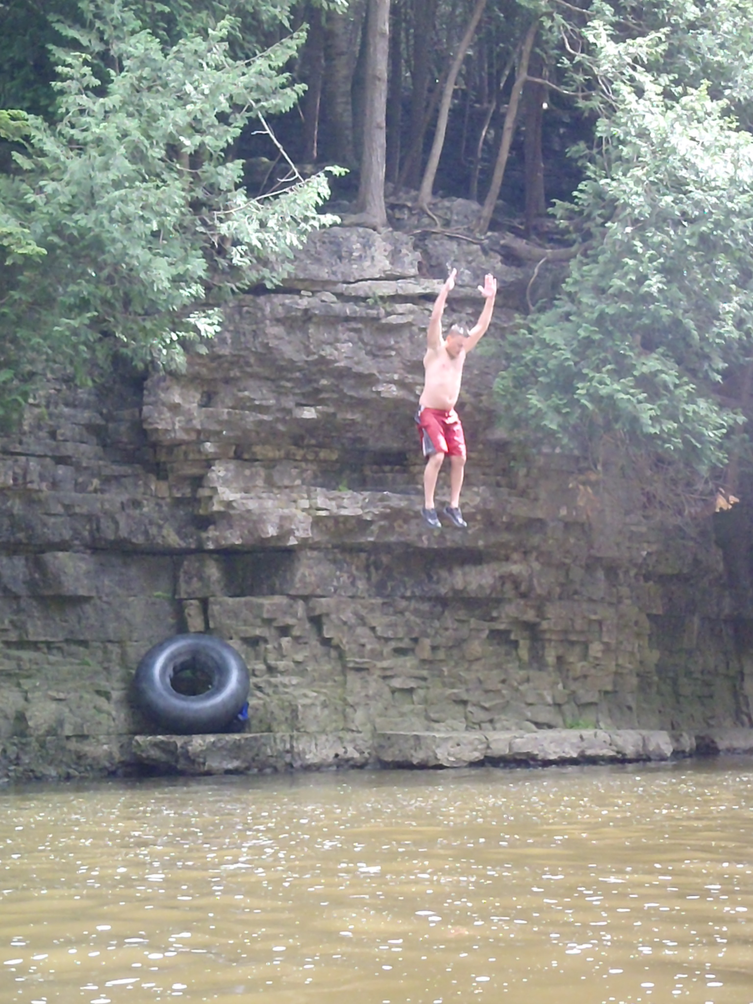 Extreme Elora Gorge Cliff Jumping