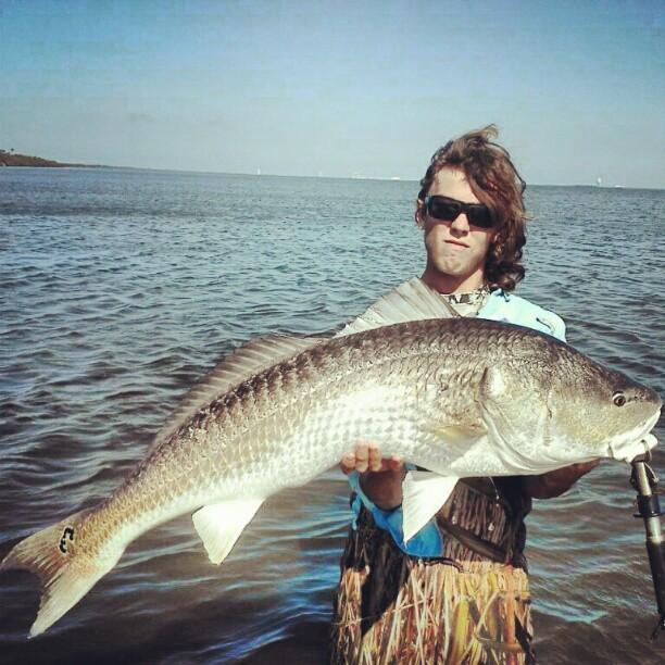 Fishing Look at the size of this redfish. Check out the 15 best fishing photos submitted to OL via Instagram. http://bit.ly/163fN31