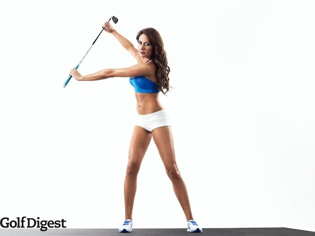 Golf Holly Sonders will be the cover girl for next month's Golf Digest
