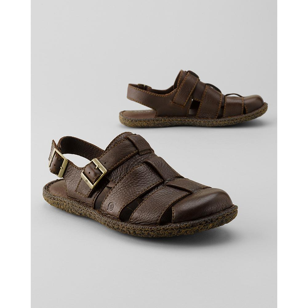 Surf B rn Resnor Closed-Toe Sandals - Ruggedly handsome and supremely comfortable. Made with B rn's signature handsewn Opanka construction. Adjustable strap buckle with leather upper and rubber sole. Imported. - $69.99