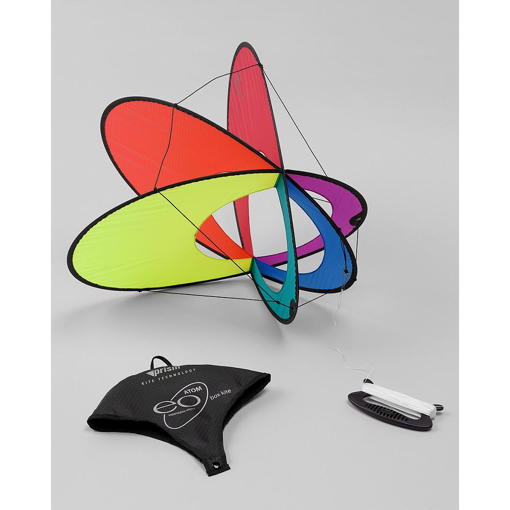 Eddie Bauer Prism Atom Kite - This unique kite design folds flat for easy storage and pops open ready to fly, no assembly required. Three-plane design provides great stability in the air, and also allows you to experiment with acrobatic tricks, simply by slacking the line. - $29.95