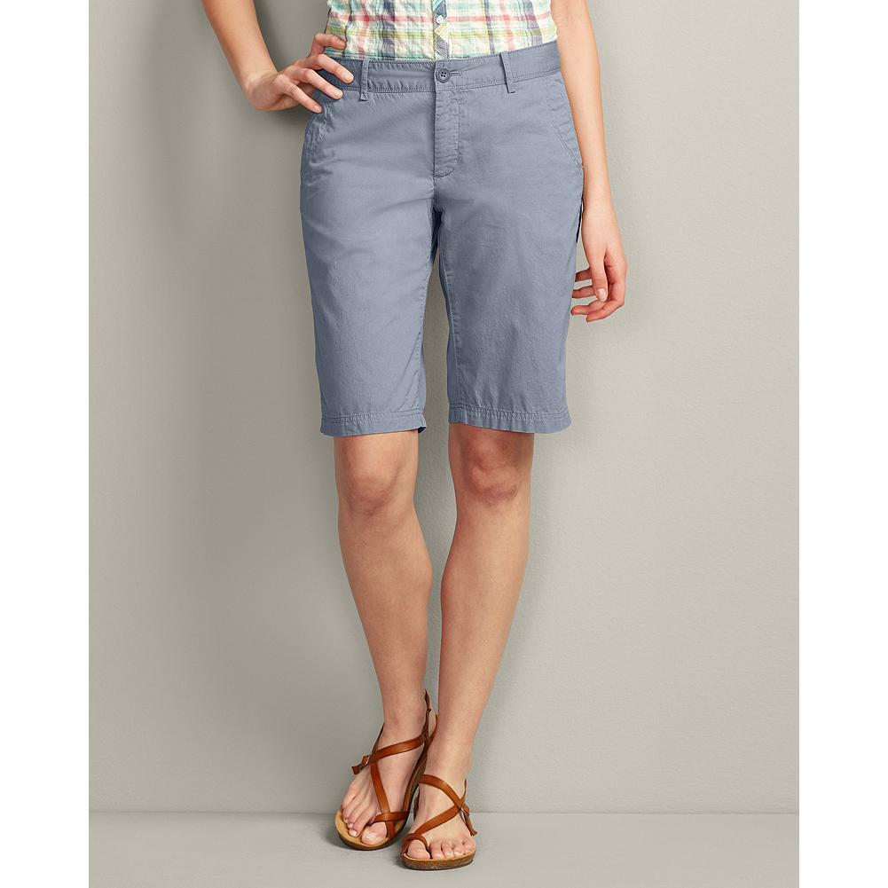 "Eddie Bauer Textured Cotton 12"" Weekend Bermuda Shorts - The lightweight textured cotton in our comfortable, relaxed-fitting Bermuda shorts has a peached finish for softness, which is further enhanced by a special prewash. The mini-herringbone fabric is pigment-dyed to create unique highs and lows of color that weather beautifully. Also available in 7"" and rolled-hem versions. - $14.99"