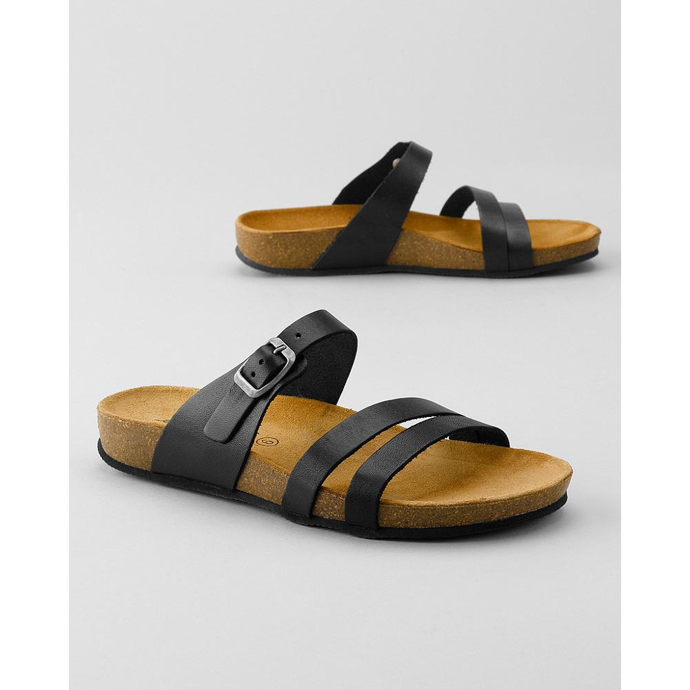 Surf Eddie Bauer Slide Sandals - The suede-covered cork footbeds are contoured for optimal support, and mold further to your feet for all-day comfort. Classic styling works with everything from shorts to skirts and summer dresses. - $39.99