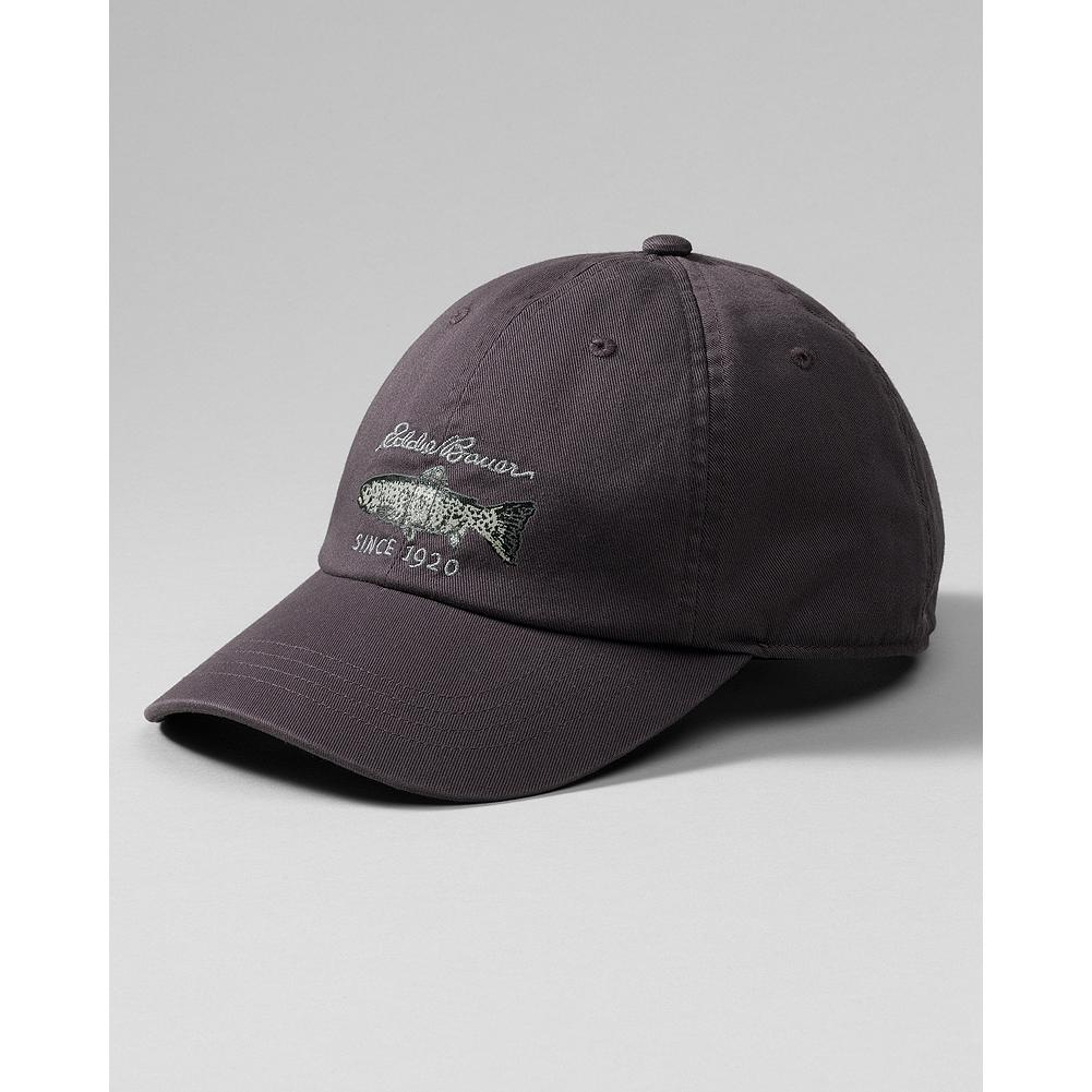 Entertainment Eddie Bauer Fish Graphic Baseball Cap - Whether you're an angler or not, this cap and its vintage graphic will identify you as an outdoorsman. - $12.99