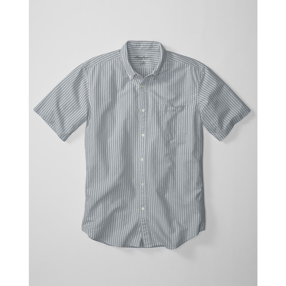 Fitness Eddie Bauer Classic Fit Legend Wash Oxford Shirt - Stripe - Our exclusive Legend Wash process gives our oxford cloth shirt lived-in softness and broken-in comfort from the first time you put it on. Also available in a solid-color version. - $24.99
