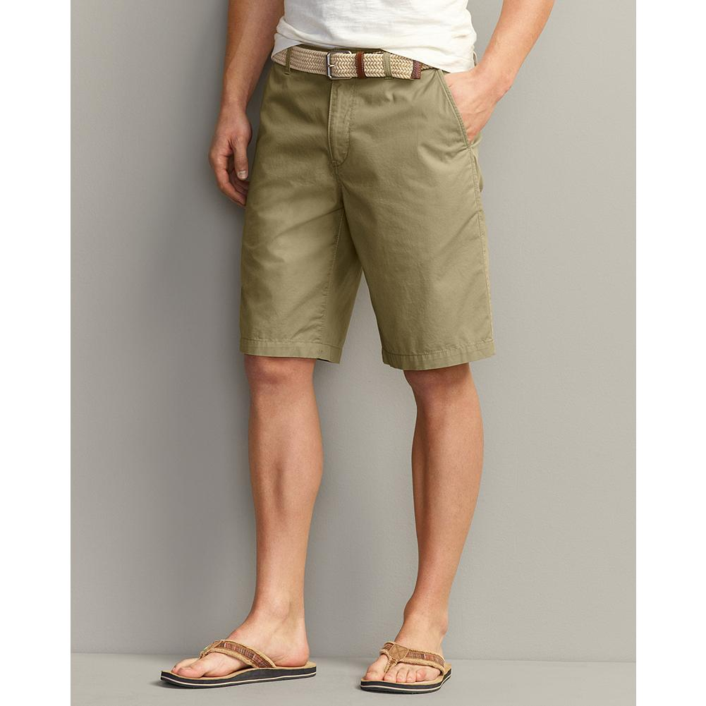 Fitness Eddie Bauer Lightweight Chino Shorts - Solid - Like our Lightweight Chino pants, these shorts are treated to our exclusive Legend Wash, which gives the fabric a relaxed, broken-in feel from Day One. That and the great fit keeps them in your comfort zone all summer and way beyond. - $19.99