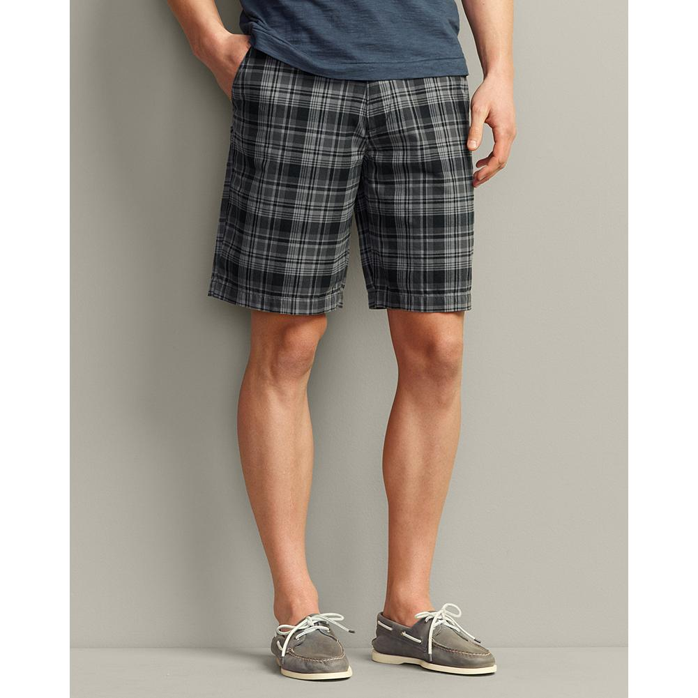 "Fitness Eddie Bauer Legend Wash 10 inch Chino Shorts - Plaid - Combining the classic good looks of chinos with the uncommonly soft, broken-in comfort of our Legend Wash cotton, these shorts are the ones you'll want to live in. They're also available in solid colors and in a 12"" inseam. - $12.99"