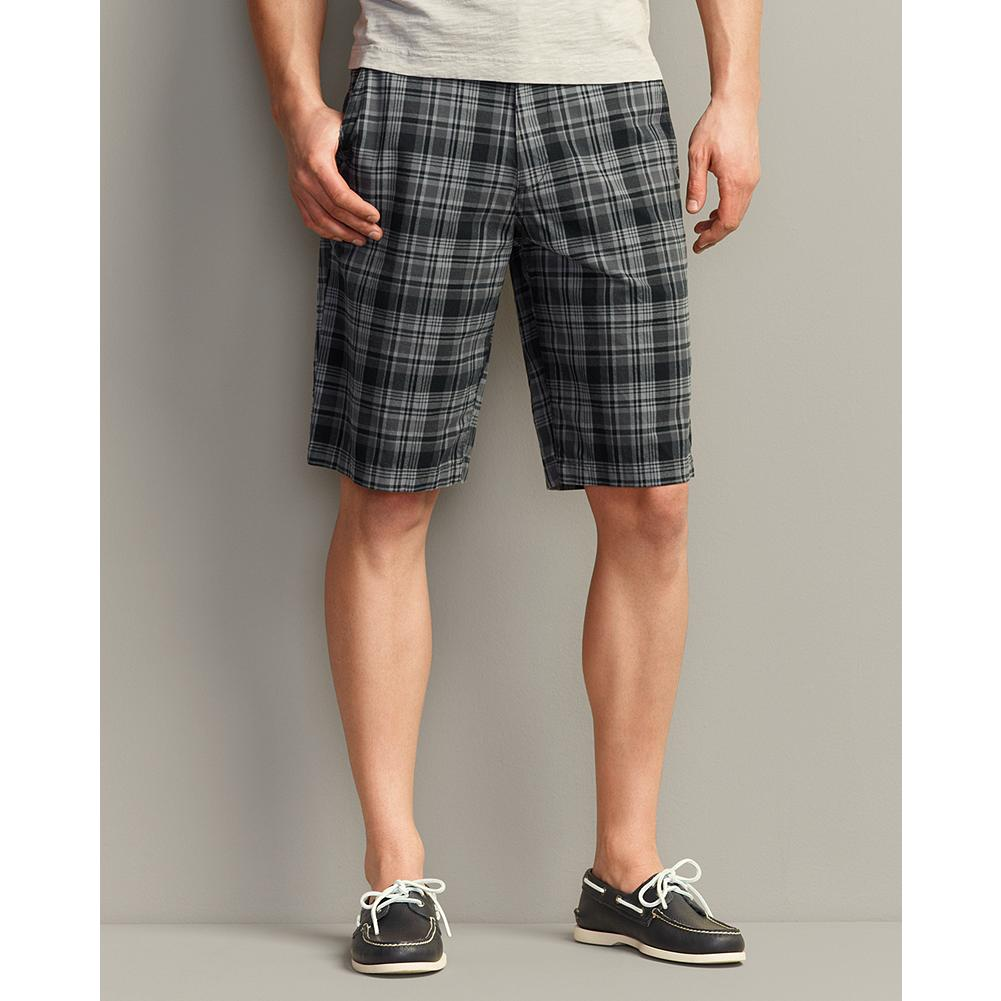 "Fitness Eddie Bauer Legend Wash 12 inch Chino Shorts - Plaid - Combining the classic good looks of chinos with the uncommonly soft, broken-in comfort of our Legend Wash cotton, these shorts are the ones you'll want to live in. They're also available in solid colors, and in a 10"" inseam. - $12.99"