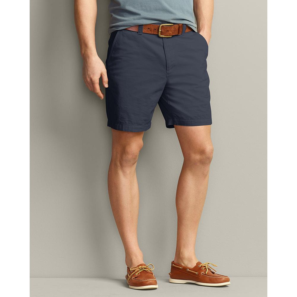 "Fitness Eddie Bauer Legend Wash 7 inch Chino Shorts - Solid - Combining the classic good looks of chinos with the uncommonly soft, broken-in comfort of our Legend Wash cotton, these shorts are the ones you'll want to live in. They're also available in 10"" and 12"" inseams. - $24.99"