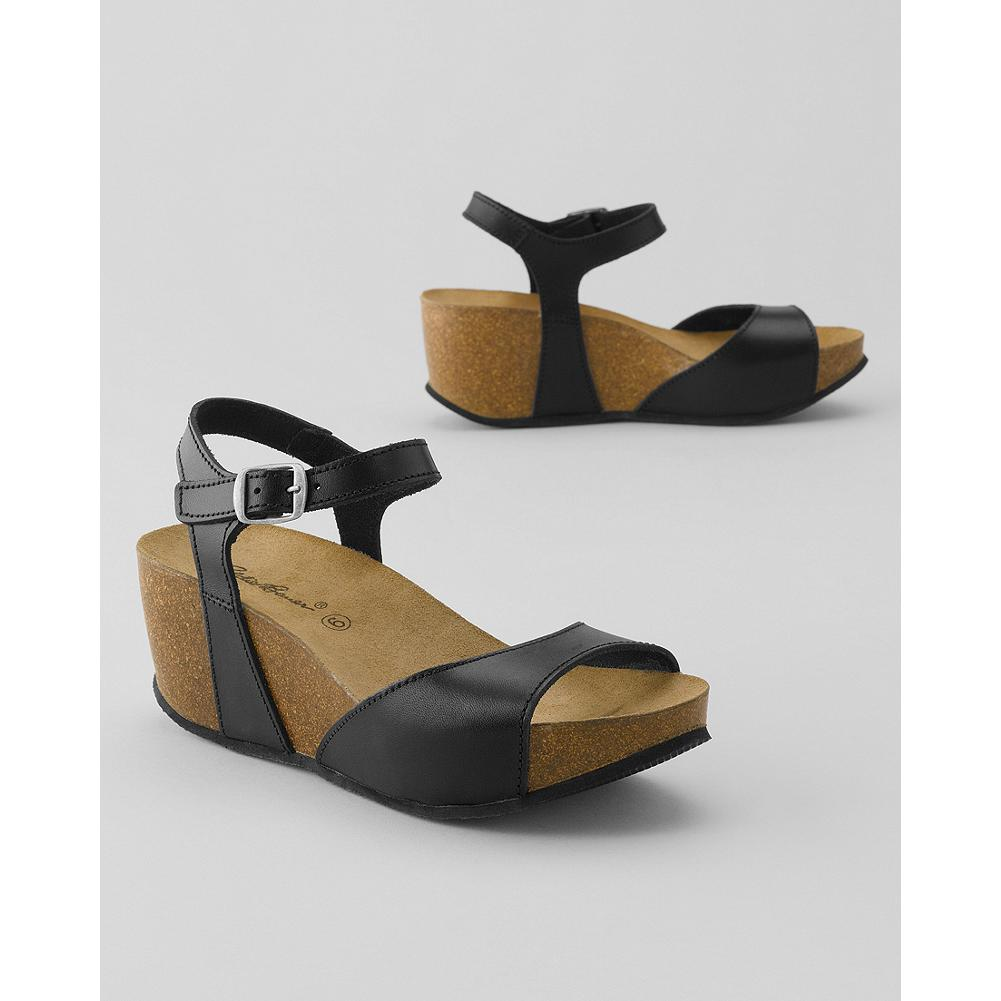 Surf Eddie Bauer Wedge Sandals - The suede-covered cork footbeds are contoured for optimal support, and mold further to your feet for all-day comfort. - $19.99