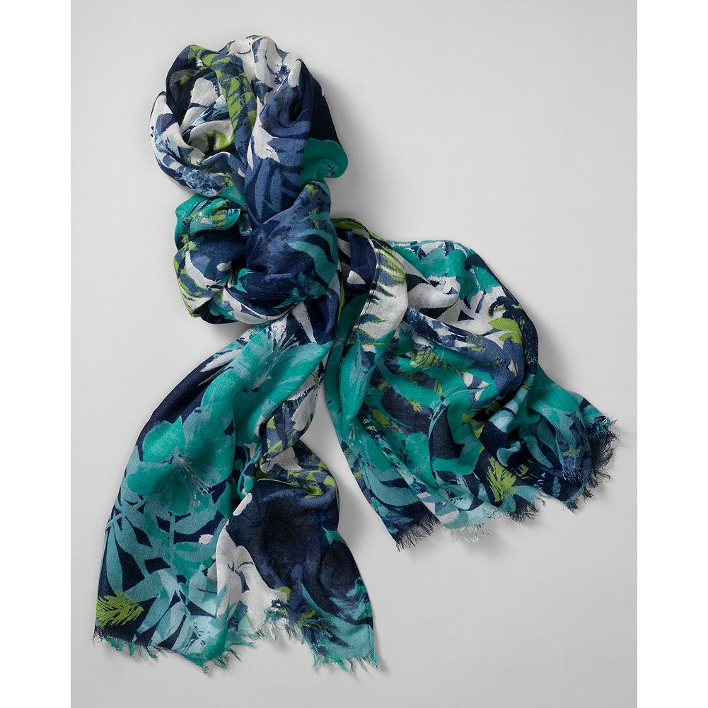 Entertainment Eddie Bauer Tropical Print Scarf - Add casual island style to any warm-weather look with our airy, tropical-print scarf. - $29.99