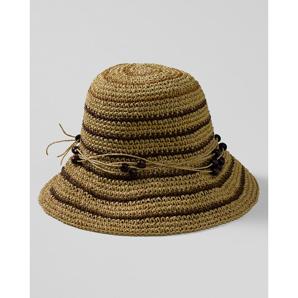 Entertainment Eddie Bauer Packable Straw Cloche - Easy to pack and to wear, this charming straw cloche adds a stylish touch to any warm-weather outfit and helps shade your face from the sun. - $11.99
