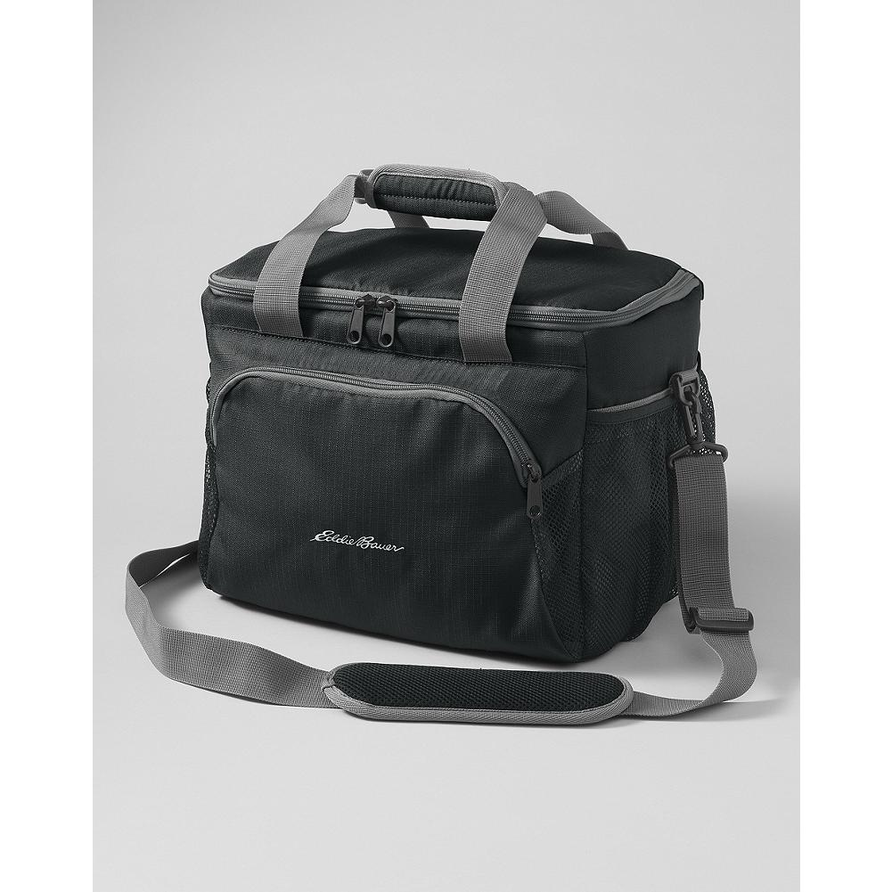 Camp and Hike Eddie Bauer Soft-Sided Cooler - Camping, picnicking, tailgating or any other activity that takes you outdoors is the right time to bring our soft-sided cooler. Easy to carry with the removable shoulder strap or the padded hand grips. The welded interior ensures that any liquids you're carrying inside stay inside. - $24.95