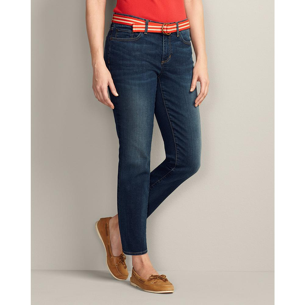 Entertainment Eddie Bauer Slightly Curvy StayShape Ankle Jeans - Our StayShape denim softly stretches and slims, never losing its shape-a natural choice for our new ankle-length jeans. For a more fitted look, please order one size down. - $29.99