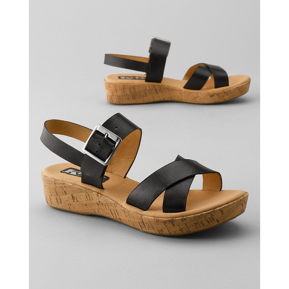 Surf Korks by Kork-Ease Christy Wedge Sandals - A natural match for your summer wardrobe, these wedge sandals from Korks by Kork-Ease feature a cushioned footbed and adjustable straps for the best fit. - $49.99
