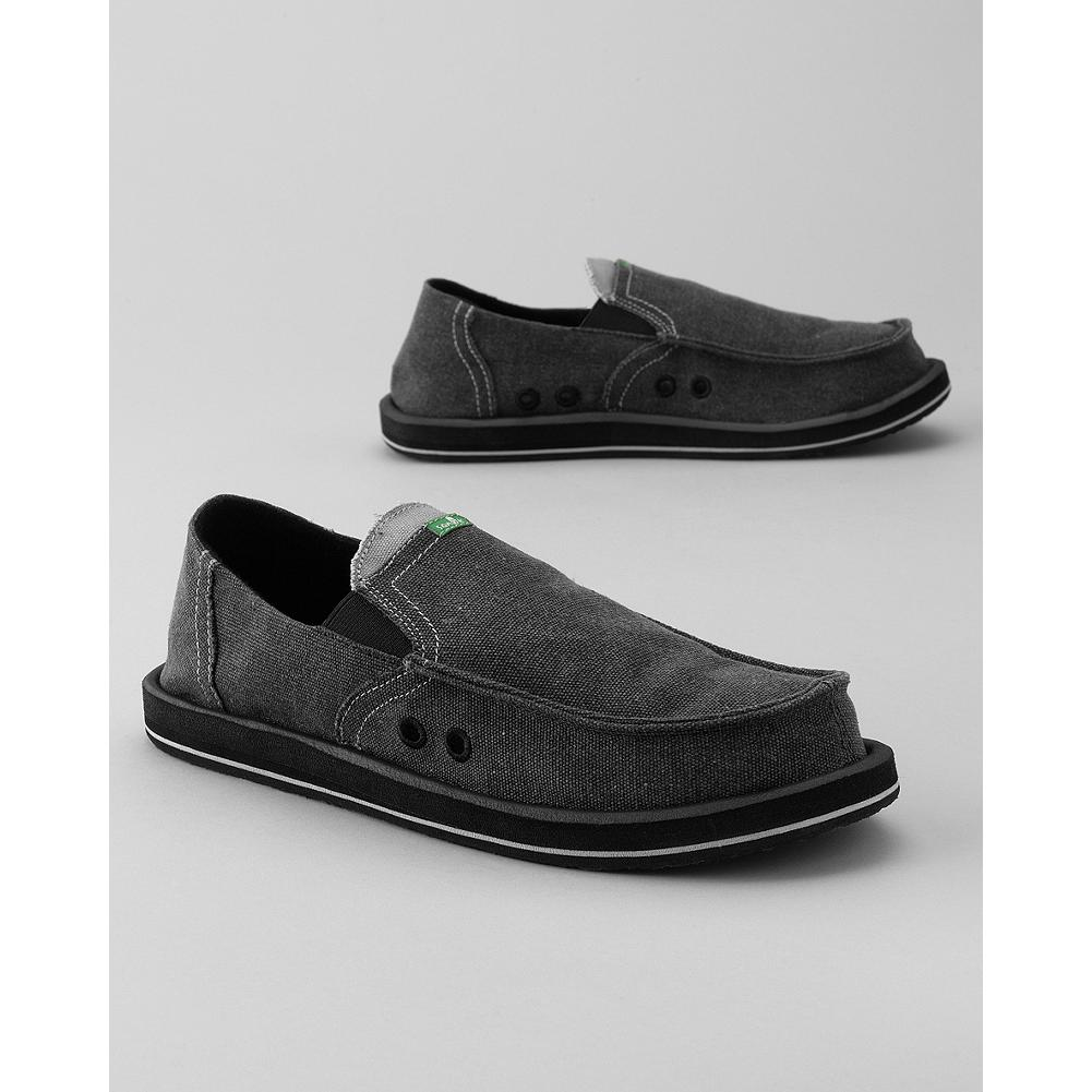 Sanuk Pick Pocket Slip-On Shoes - Travel light and safe with Sanuk's clever Pick Pocket Slip-On Shoes. A hidden vamp stash pocket stows cash, keys and cards, and the high-rebound molded EVA footbed keeps feet comfy mile after mile. - $18.99