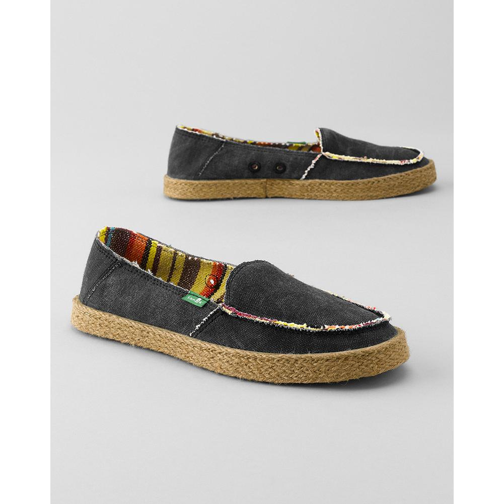 Fitness Sanuk Bonita Sidewalk Surfer Slip-On Shoes - Fun, laid-back, and comfortable, these Sanuk slip-on shoes combine a casual canvas upper, striped lining and high-rebound EVA footbed to keep you stepping easily all summer. - $29.99