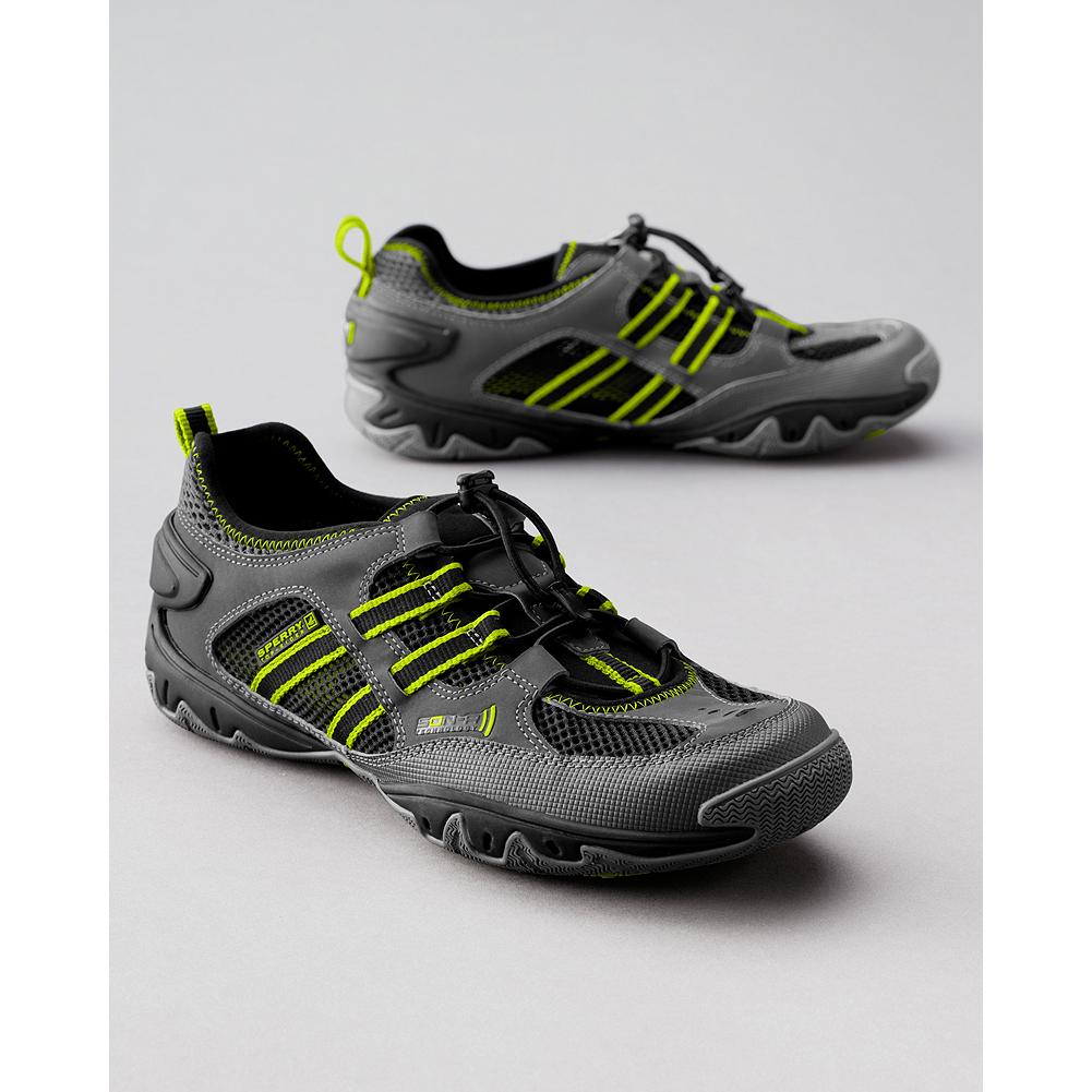 Fitness Sperry SON-R Sounder Shoes - The ultimate land and water shoe. SON-R technology maximizes agility, while the Hydro-Grip(TM) rubber sole delivers multi-surface traction. Hydrophobic mesh upper has exterior drain vents for quicker drying. Imported. - $24.99