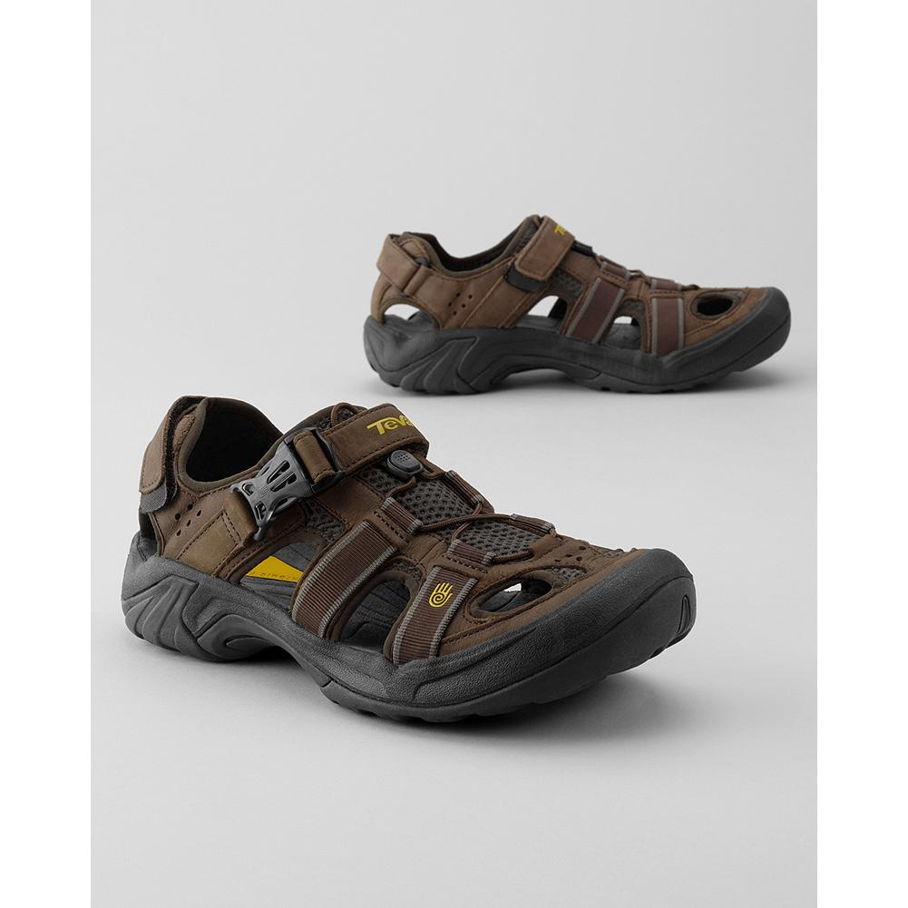 Entertainment Teva Leather Omnium Sandals - Ideal for amphibious adventures of all kinds, these rugged Teva sandals feature waterproof leather uppers with multiple points of adjustment for a secure fit. - $69.99