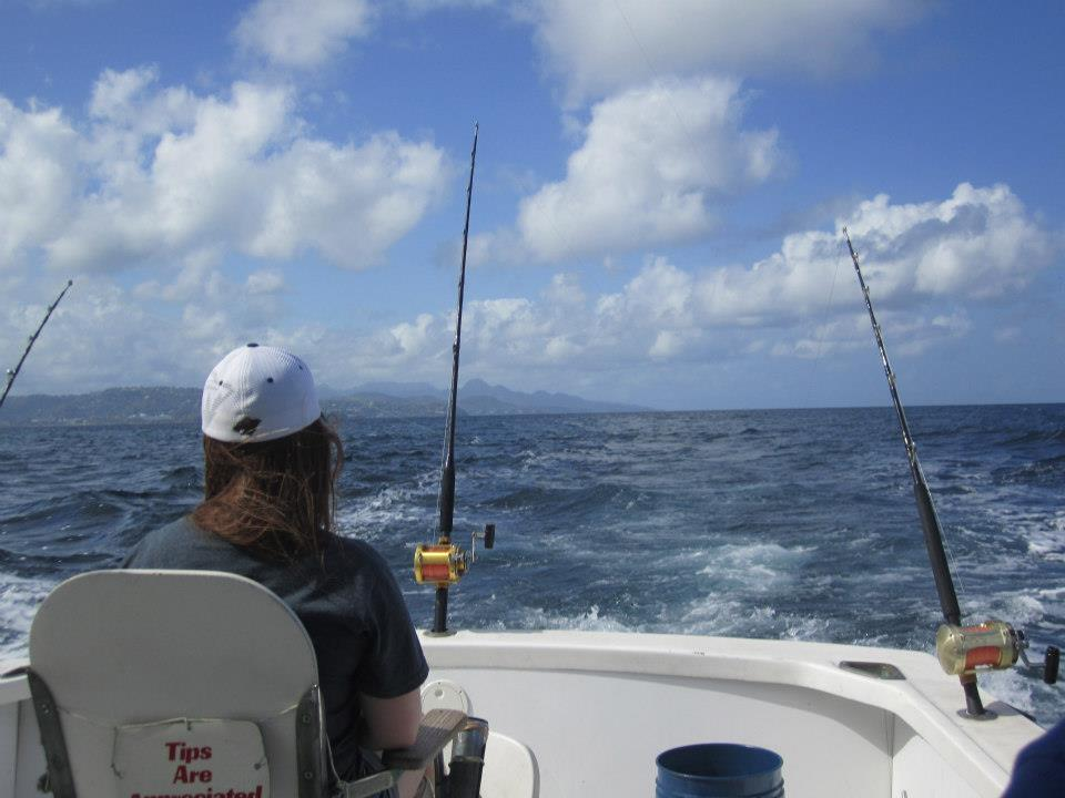 Fishing deep sea fishing in St. Lucia