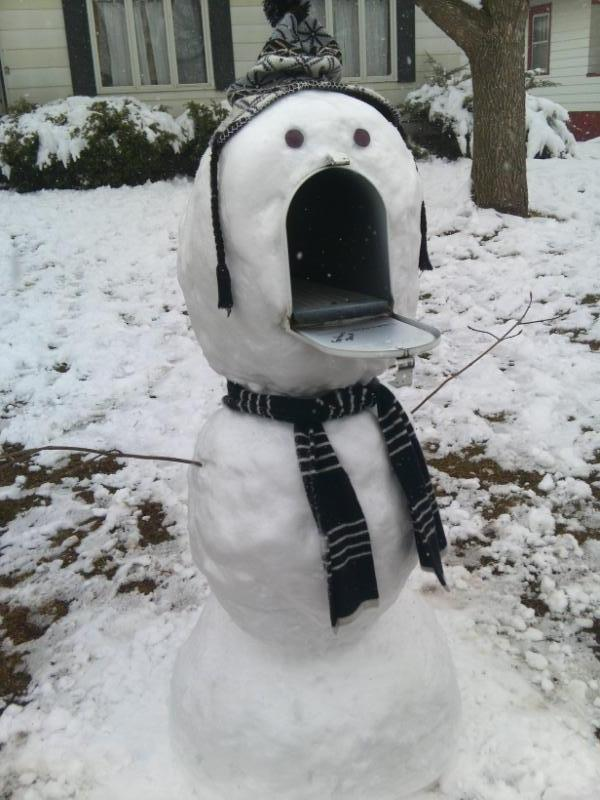 Entertainment Snowman Mailbox will eat you