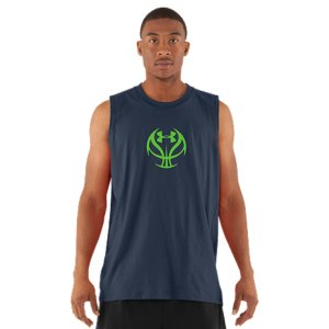 Fitness UA graphic T's are like all our other T's-performance is built right into their DNA. This T-shirt is made from Charged Cotton(R) so it still has the familiar comfort of cotton, but dries much faster, so you'll stay cooler. Lightweight Charged Cotton(R) has the comfort of cotton, but dries much fasterSignature Moisture Transport System wicks sweat away from the bodyAnti-Odor technology prevents the growth of odor causing microbesDurable ribbed collar provides a comfortable fitCotton/PolyesterImported - $18.99