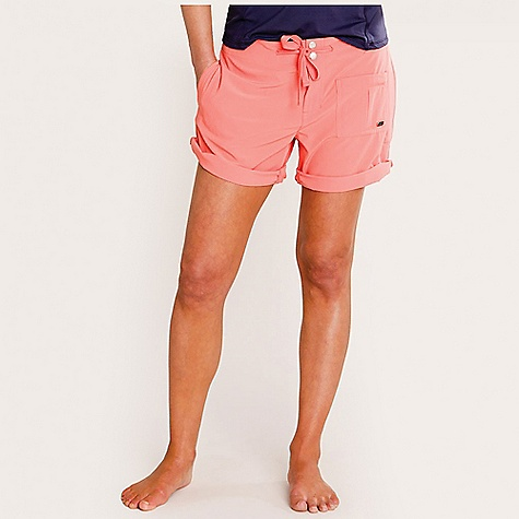 Free Shipping. Carve Designs Women's Fletcher Short DECENT FEATURES of the Carve Designs Women's Fletcher Short 6.5in. inseam, 10.5in. front rise Relaxed fit Zipper closure with adjustable drawstring at waist Mesh lined slash pockets Front pocket with zip, back mesh lined pocket with snap Adjustable snap closure at hem The SPECS 4 oz Stretch Polyester 86% Polyester / 14% Spandex DWR Finish and UPF Protection - $57.95