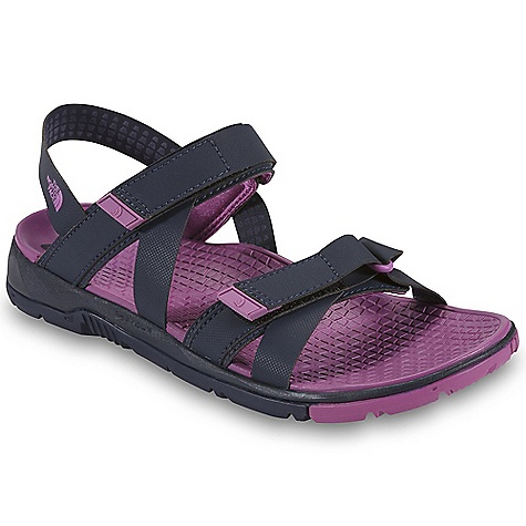 Surf Free Shipping. The North Face Women's Greenwater Sandal DECENT FEATURES of The North Face Women's Greenwater Sandal Upper: Water-repellent synthetic straps do not absorb water Two points of hook-and-loop adjustment at forefoot and instep for a secure, personalized fit Quick-drying Lycra strap lining with 2 mm SBR foam for supreme comfort Bottom: Poured PU midsole with a compression-molded EVA footbed for comfort that won't pack out Siped, water-channeling HydroTrak sticky-rubber compound for increased traction in wet and dry environments The SPECS Last: L-TNF-S1 Approx Weight: 1/2 pair: 8 oz / 230 g, pair: 1 lb / 460 g This product can only be shipped within the United States. Please don't hate us. - $79.95