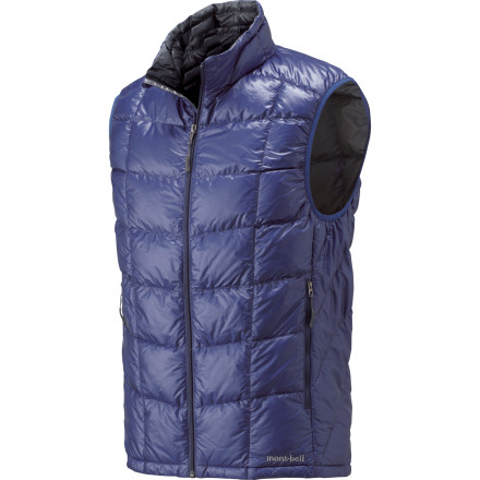 When technical terrain requires you to leave your arms unrestricted but the temps are cold, zip up the MontBell Men's U.L. Down Vest. The lofty 800-fill goose down keeps your core toasty warm and the Polkatex DWR finish on the ultralight be extremely durable shell shields the insulation from light rains and falling snow. - $118.95