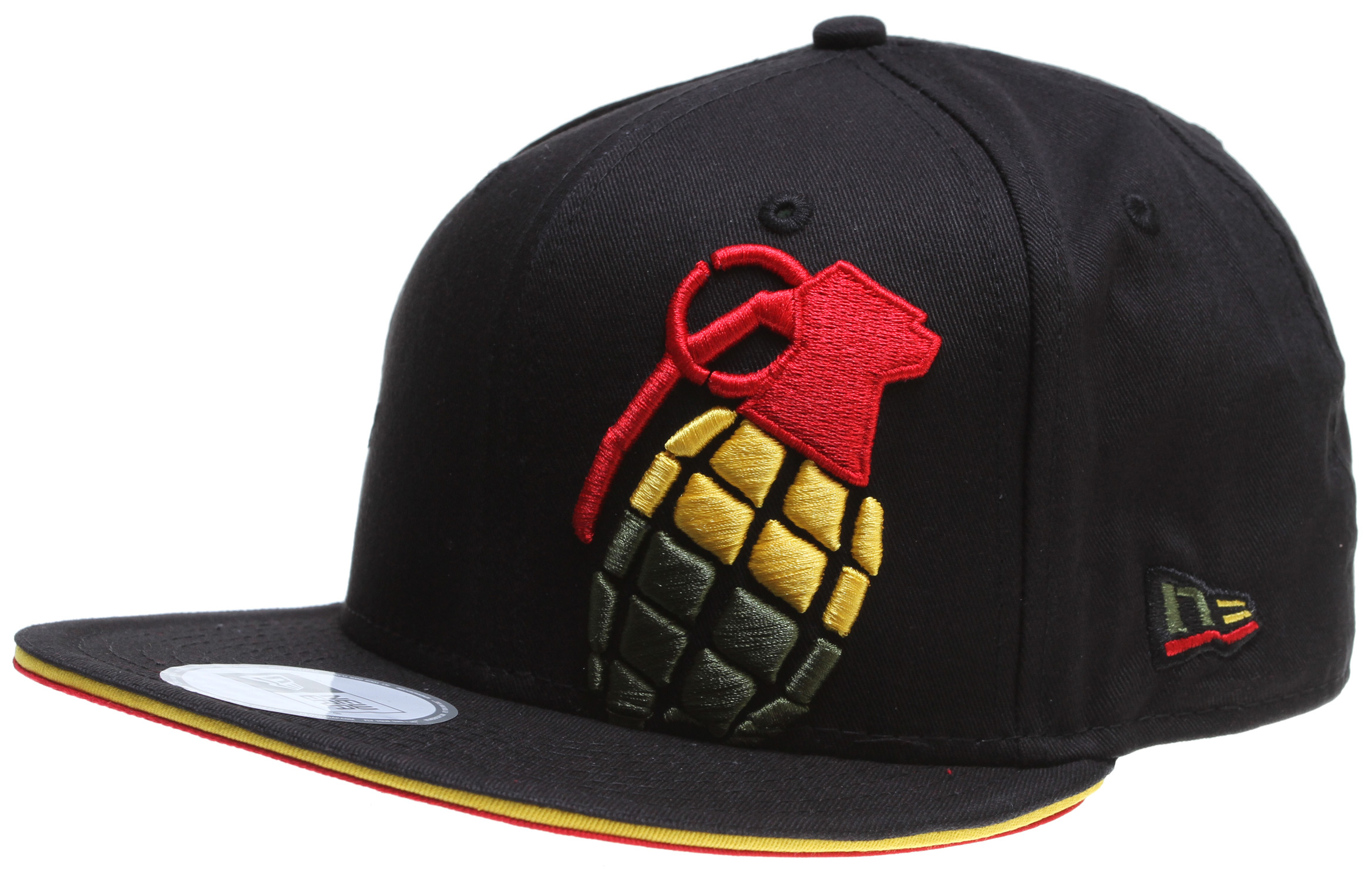 Key Features of the Grenade Halfer Irie Cap: 100% Cotton NEW ERA SNAP BACK Embroidered logo - $17.95