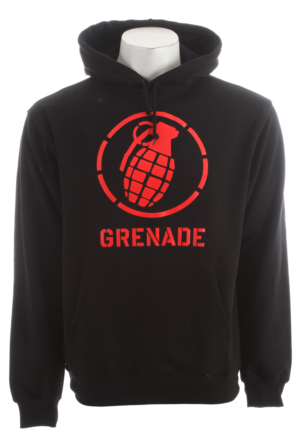 Key Features of the Grenade Wordmark Stenz Hoodie: 80/20 Blended fleece Screen print graphic Kangaroo pocket Classic pull over fit - $34.95