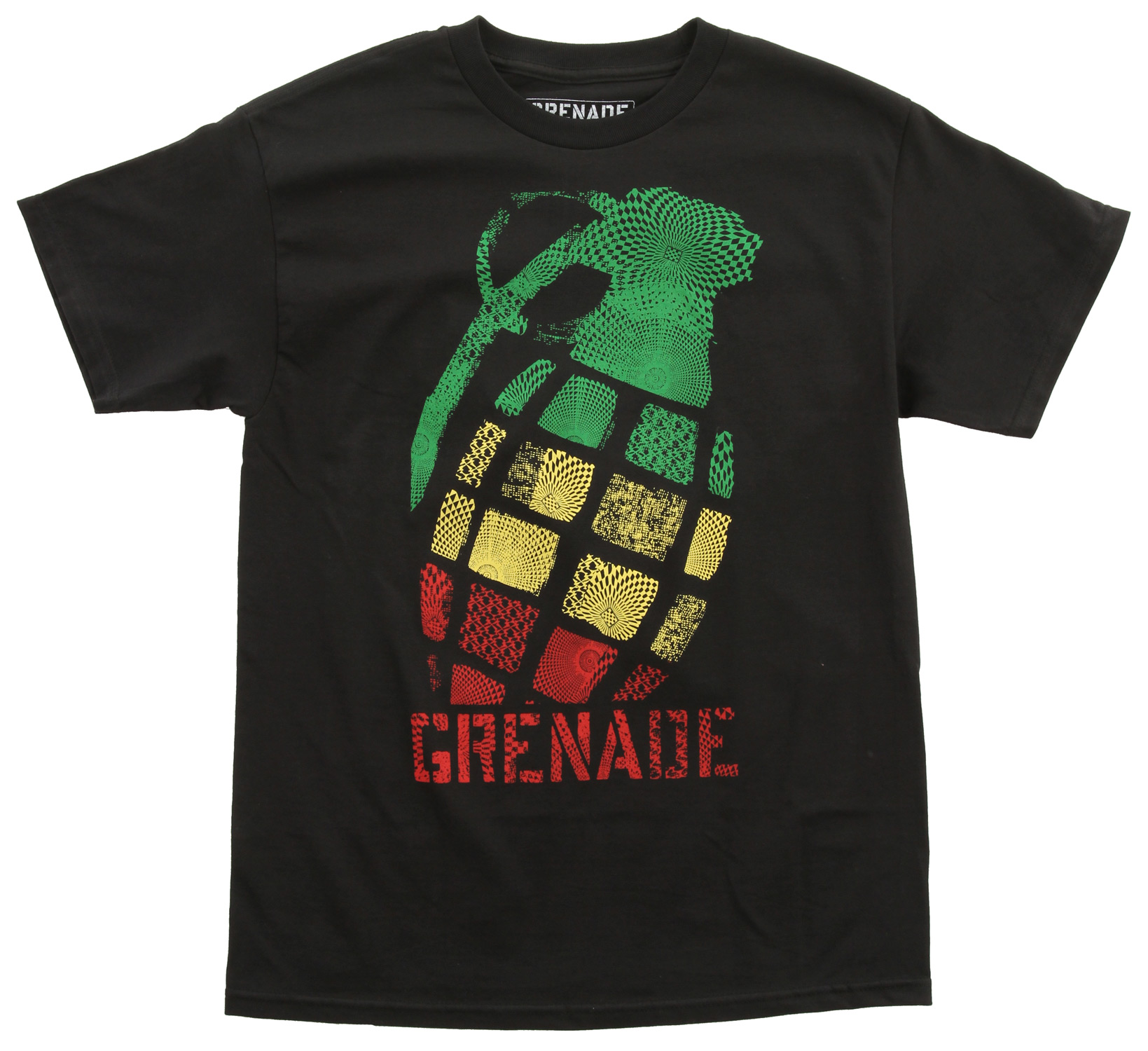 Key Features of the Grenade Geo Tilt T-Shirt: 80/20 Blended fleece Screen print graphic Kangaroo pocket Classic pull over fit - $13.95
