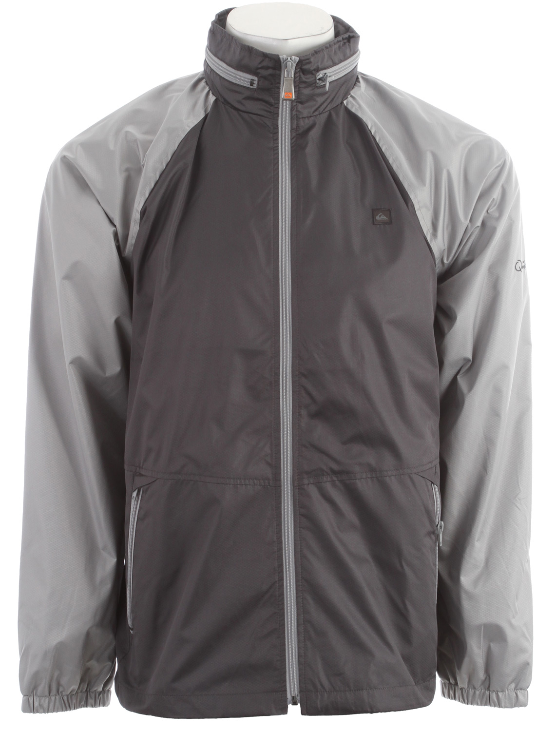 Surf Key Features of the Quiksilver Shell Shock 2 Windbreaker:  Textured polyester windbreaker with mesh lining, contrast zippers and packable hood 100% polyester - $43.95