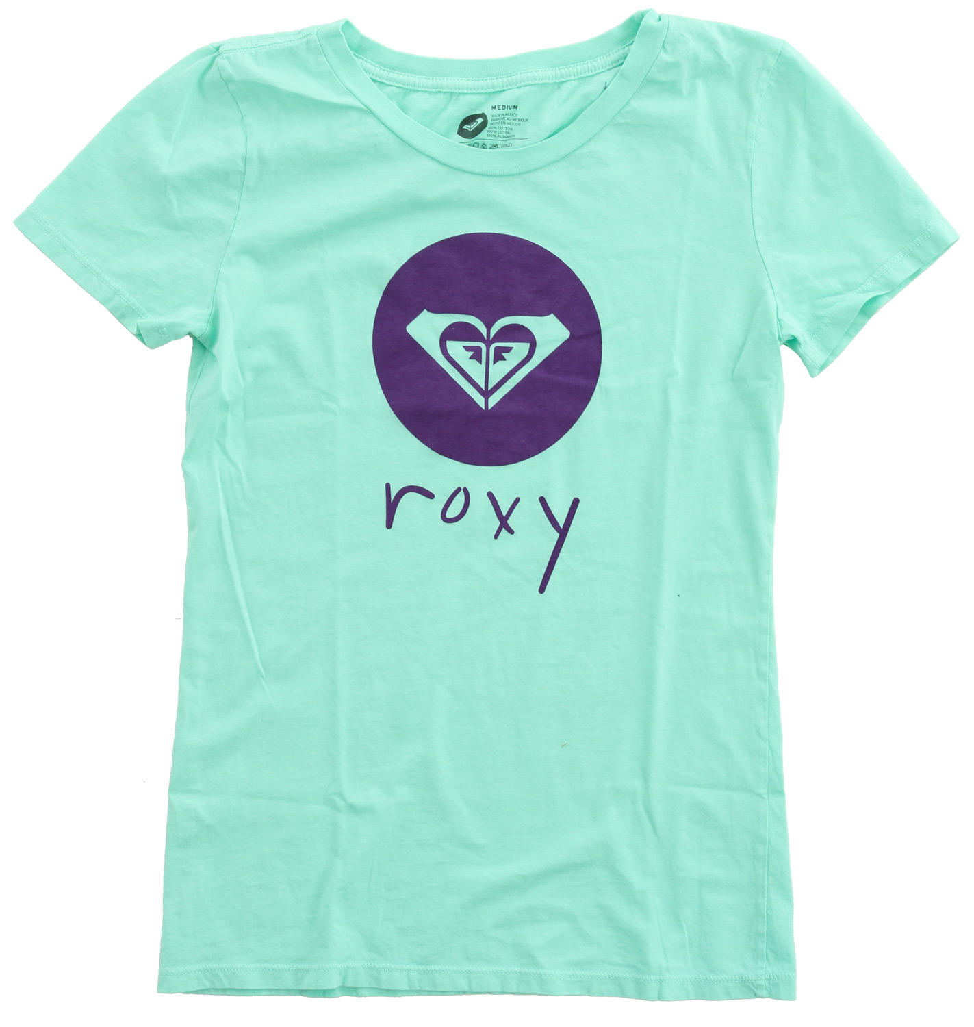 "Surf Key Features of the Roxy Perfect Punch Womens T-Shirt: 100% cotton jersey 40/1's garment dyed short sleeve slim crew neck tee with heat activated ink 27"" hps - $12.95"