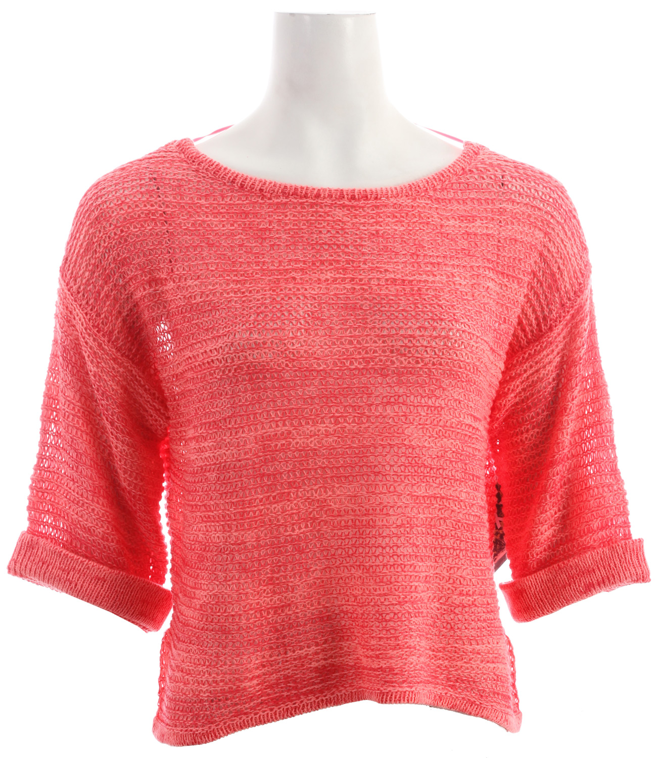 Surf Roxy Total Uproar Sweater Paradise Pink Pattern - $32.95