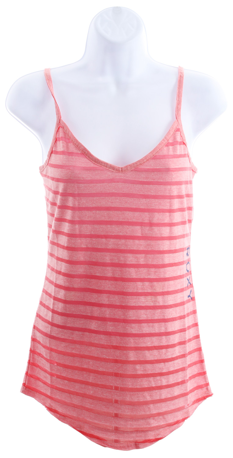 "Surf Key Features of the Roxy Make It Tank: 50% polyester, 38% cotton, 12% rayon Triblend jersey camisole tank with burnout stripes 26"" hps - $18.95"