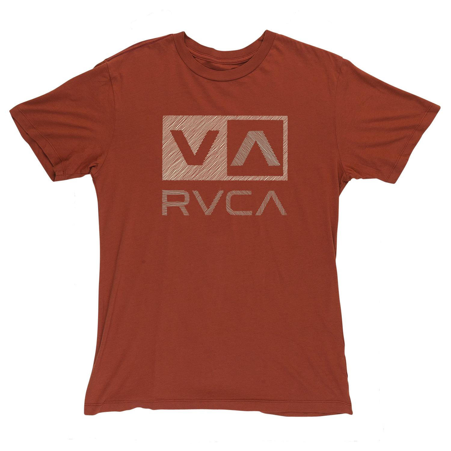 Key Features of the RVCA Sketch Box Vintage Wash T-Shirt:  100% Cotton Vintage Wash Slim Fit Tee with front print and screened inside neck - $17.95