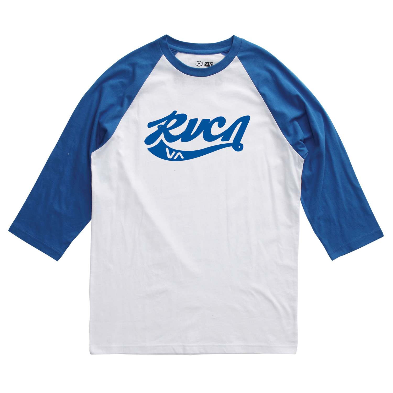 Sports Key Features of the RVCA Crola Raglan: BKW, RYW: 100% Cotton BKA, RDA: 90% Cotton/10% Polyester 3/4 sleeve baseball raglan Front screenprint and screened inside neck - $18.95