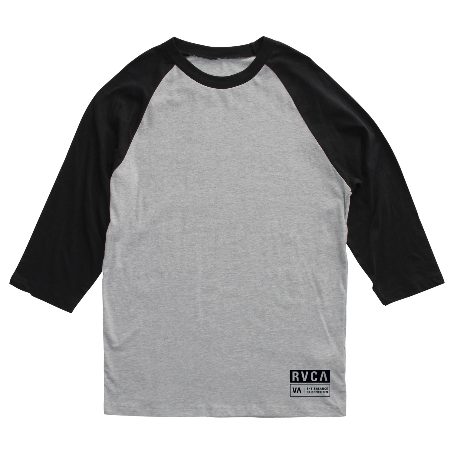 Sports Key Features of the RVCA Tab Raglan: BKW, RYW: 100% Cotton BKA, RDA: 90% Cotton/10% Polyester 3/4 sleeve baseball raglan Front screenprint and screened inside neck - $18.95